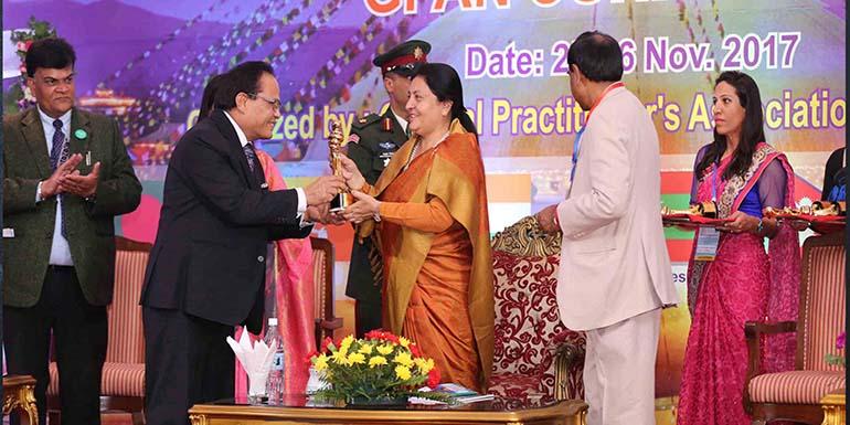 The Rt Hon'ble President  Mrs. Bidhya Devi Bhandari